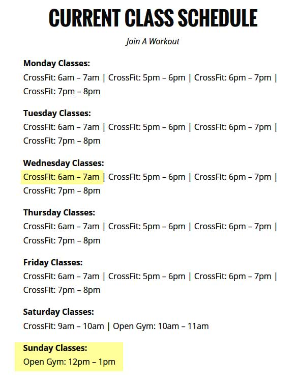 CrossFit Classes In Phoenix